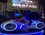 China Blue / White 9D Virtual Reality Simulator Theme Park Virtual Reality Motion Simulator wholesale