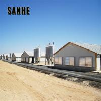 China steel frame poultry farm house chicken cage building shed construction and whole farm equipment supplier on sale