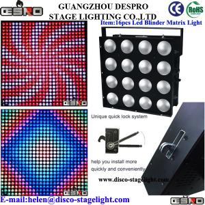 China Dance Hall Matrix LED Wash Lights Cool Stage Effects Pro Sound Stage Lighting on sale