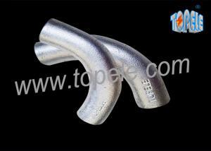 China BS4568 galvanizó el codo 20m m/25m m de la intersección del canal del hierro maleable de la tubería de acero on sale