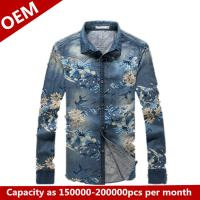 2014 New Design oxsford silk screen printing shirts