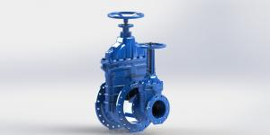 China Ductile Iron AWWA Gate Valve Resilient Seated With Handwheel Rising Or No - Rising Stem on sale