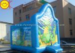 El PVC embroma el dragón azul lindo del puente de la gorila inflable comercial inflable de Dinasaur