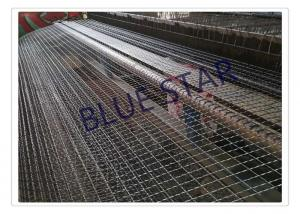 China Galvanized / Carbon Steel Wire Mesh Single / Double Intermediate Weave Pattern on sale