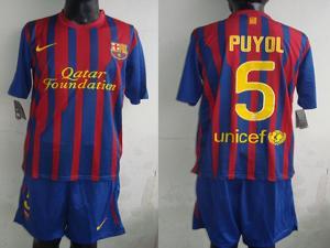 45b1060b6b0 ... Quality 2011-2012 Soccer jersey wholesale Barcelona 5  Carles Puyol Away  Black Jerseys for