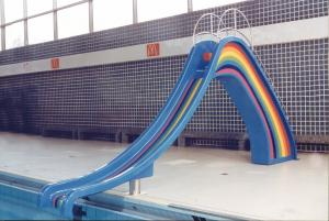 China Children Small Water Slide Indoor Swimming Pool Blue Rainbow on sale