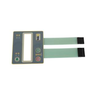 China Embossed Tactile Push Button Membrane Switch Panel With Silk Screen Printing on sale