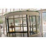ホテル/銀行/空港のための 2 つの翼のステンレス鋼フレームの自動回転ドア