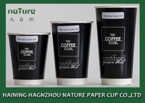 China Large Personalised Paper Cups , Double Layer Disposable Paper Cups For Hot Drinks on sale