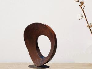 China Handmade Corten Steel Sculpture Circular Shape As Indoor Hotel / Club Decoration on sale