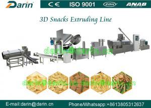 China Automatic Panipuri / Golgappa Fryum 3d Snack Extruder Machine processing line on sale