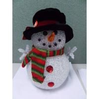 Holiday Decoration LED Christmas Snowman , Light Up Snowman Indoor 3xAAA Battery