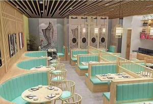 China Customized Modern Restaurant Furniture ,Restaurant Booth And Table Set on sale