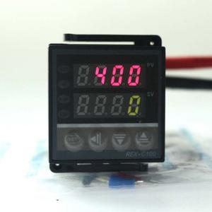 China Digital PID Temperature Controller Thermostat REX-C100 + Max.40A SSR Relay + K Thermocoupl on sale