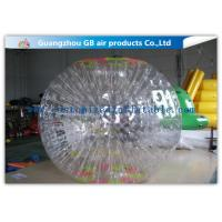 Funny Transparent Inflatable Bumper Ball , Inflatable Grass Zorb Ball For Adults