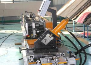 China Drywall Stud And Track Roll Forming Machine Suspended Ceiling Main T Grid Light on sale