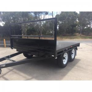 China Heavy Duty 14 x 7 Tray Top Trailer , Flat Utility Trailer With Full Length Side Tie Rails on sale