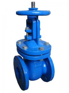 China Solid Water Cast Steel Gate Valve Commercial Flanged Connection Type on sale