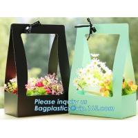 Fashion Design Flat Paper Handle Paper Gift Bag Flower Carrier Bag,nice style flowers printing paper carrier bag, bageas