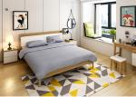 Durable Wooden Leg Modern Bedroom Furniture Sets High Back Headboard Bed