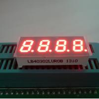"""Ultra Red 0.30"""" 7 Segment Led Display 4 Digit For Temperature / Humidity Indicator"""