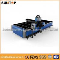 Stainless steel and mild steel CNC fiber laser cutting machine with laser power 1000W