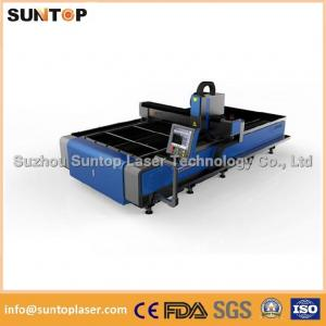 China Stainless steel and mild steel CNC fiber laser cutting machine with laser power 1000W on sale