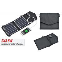 Foldable Sungold 7w 12V Solar Panel Kits , Portable Solar Cell Phone Charger