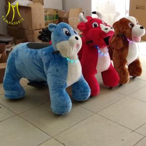 China Hansel coin operated plush outdoor ride walking animals for shopping mall on sale