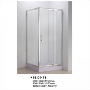 China Clear Glass Hinged Door Shower Enclosures Corner Shower Doors with Square Tray on sale