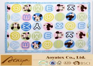China Anti - Bacterial Mickey Cartoon Printed Soft Fleece Baby Blanket With Grace Edge For Kids on sale
