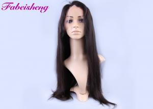 China 150g Natural Straight Full Lace Human Hair Wigs For Black Women on sale
