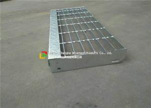 China Chequer / MS Plate Galvanized Steel Steps Air Opening High Slip Resistance on sale