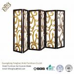 Ss Decorative Perforated Freestanding Room Divider For Hotel Lobby
