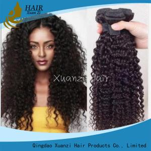 China Brazilian Kinky Curly 100% Malaysian Virgin Hair Extensions 8  -  32Inches on sale