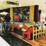 Hansel mechanical plush animal ride on toy from china animal ride for mall
