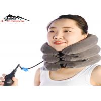 Inflatable Cervical Brace Neck Collar Pillow Brace With Velvet , Neck Pain Relief
