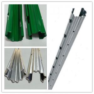 China 10FT High Zinc Coated Metal Plant Support Stakes With Three Round Holes on sale