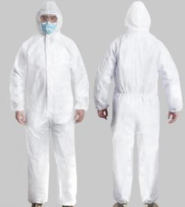 China Superior Breathable Disposable Protective Clothing Long Sleeve Chemical Resistant on sale