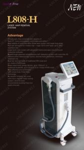 China 808nm diode laser for painless hair removal with self-checking safety system, 100% safe! on sale