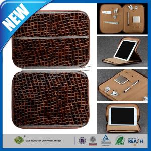 China Leather Laptop Bag , Padfolio Leather Cell Phone Cover For Ipad Travel Bag With Pocket on sale