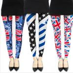 Sell cheap fashion tight pants ,Skinny pants,leggings printed with American nation's flag