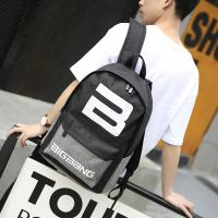 New Fashion Backpack Student School Bag Letter Printed Youth Canvas Computer Backpack