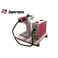 Portable 30W Fiber Laser Marking Machine  / Laser Engraver Printer Metal Engraving