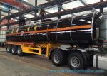 Steam Heating 3 Axle Asphalt Tank Trailer 42000 L Bitumen Tanker