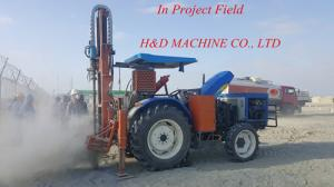 China Tractor mounted drilling rig working in abroad for seismic shot hole drilling, HD-T100 TRACTOR DRILLING RIG on sale