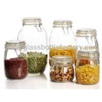 China Air Tight Clear Round Type Glass Jar For Food on sale