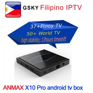 China GMA PINOY TV PHILIPPINE BASKETBALL IPTV SUBSCRIPTION ANDROID TV BOX WATCH 40 PLUS PINOY TV AND 50+ sports tv on sale