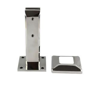 China Stainless steel square frameless pool spigot friction for railing stair-EK102.13 on sale