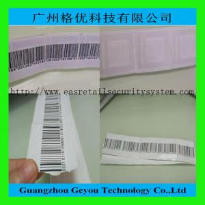 China Supermarket Alarm 8.2MHz RF Soft Label , 41 x 35mm EAS Sticker Tag supplier